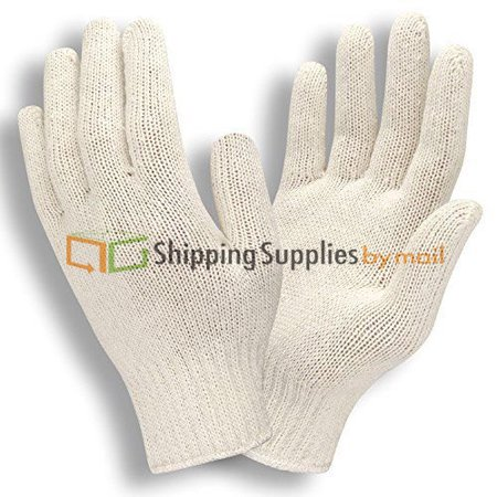 Lightweight String Knit (Natural Light Weight Polyester/Cotton String Knit Gloves, 216 Pairs)