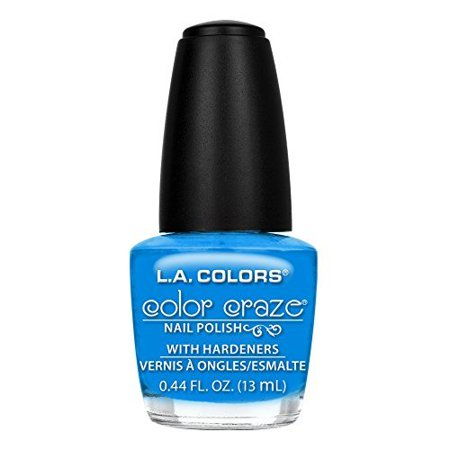 L.A. Colors Color Craze Aquatic Nail Polish with Hardeners, 0.44 fl