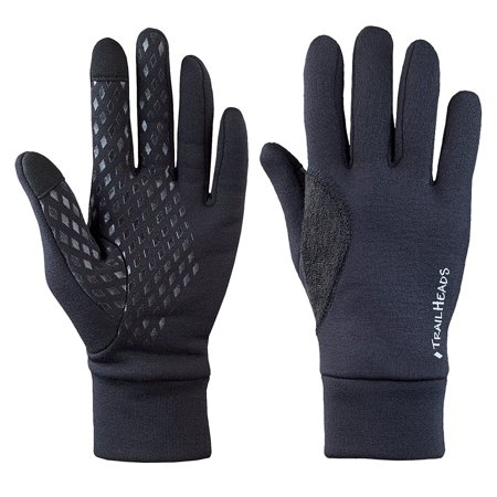 Men's Power Stretch Touchscreen Running Gloves - large By TrailHeads
