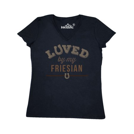 Friesian Horse Lover Women's V-Neck