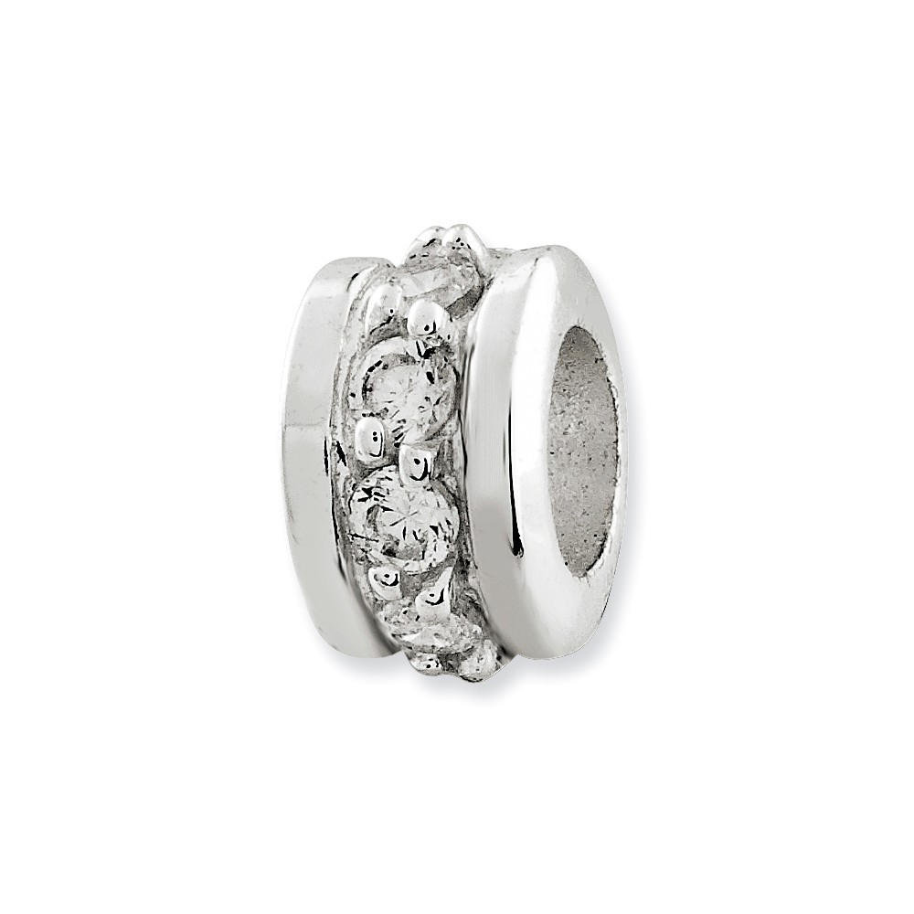 Sterling Silver Clear CZ Spacer Enhancer