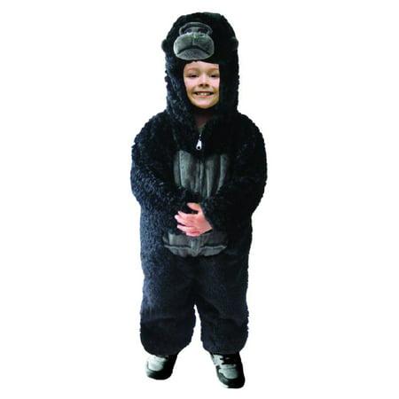Toddler Boys Plush Gorilla Costume Halloween Jumpsuit 2T](2t Halloween Costumes)