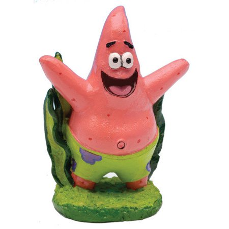 Penn Plax SpongeBob Patrick Mini Resin Aquarium Ornament