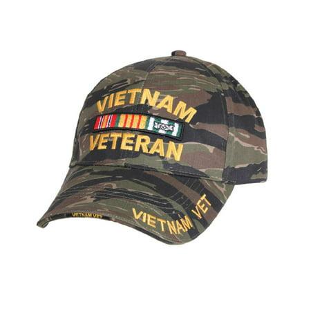 Vietnam Veteran Deluxe Low Profile Baseball Cap, Tiger Stripe Camo