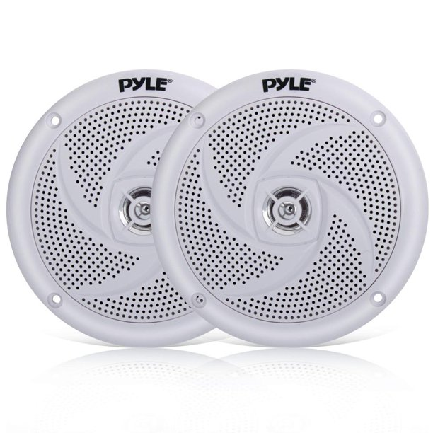 Pyle PLMRS5W - Waterproof Rated Marine Speakers, Low-Profile Slim Style Speaker Pair, 5.25''-inch (180 Watt)