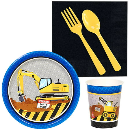 Construction Party Snack Pack for 16 - Construction Party Food Ideas