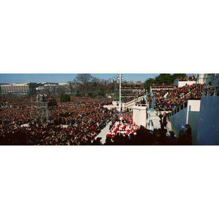 Maya Angelou delivers poem on Bill Clintons Inauguration Day January 20 1993 in Washington DC Canvas Art - Panoramic Images (27 x 9)