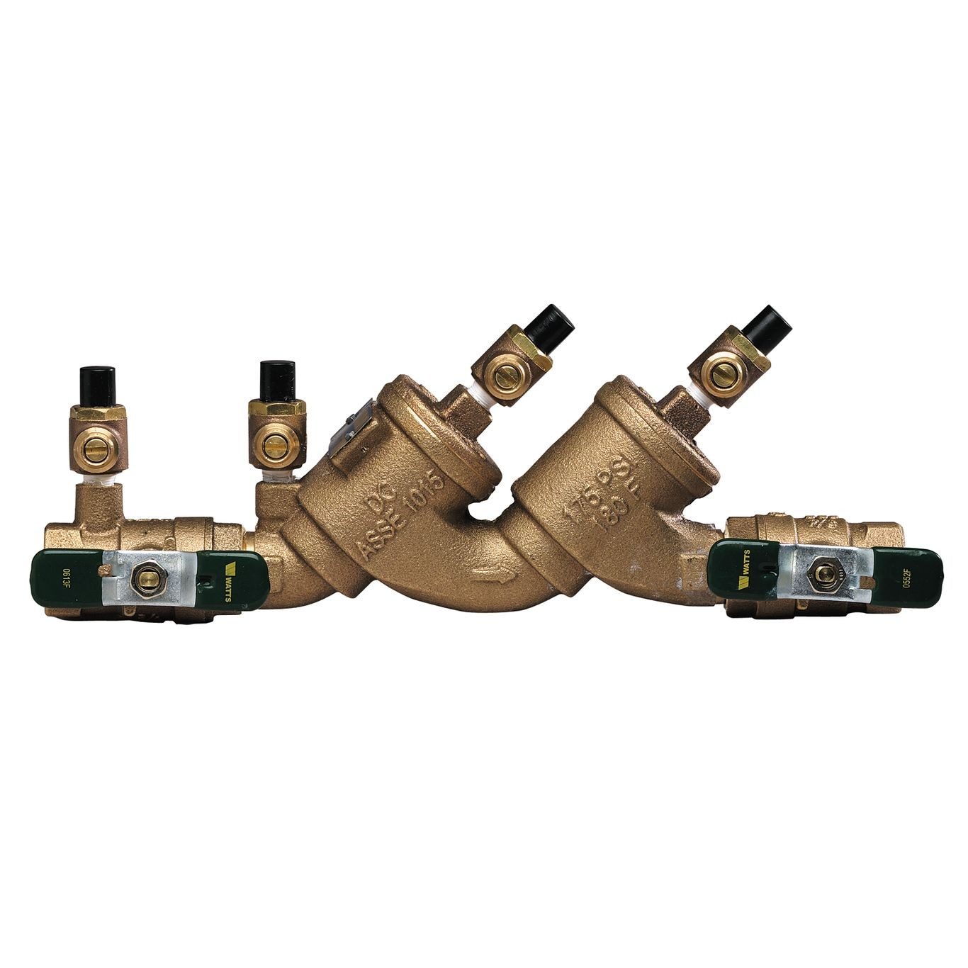 1-1/2 In Lead Free Reduced Pressure Zone Assembly, Quarter Turn Ball Valves, Lever Handle