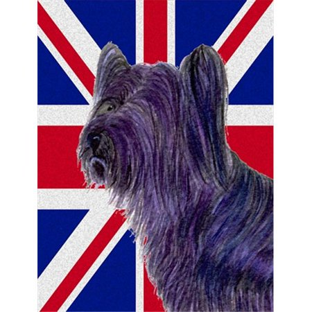 Carolines Treasures SS4905GF Skye Terrier With English Union Jack British Flag Flag Garden Size - image 1 de 1
