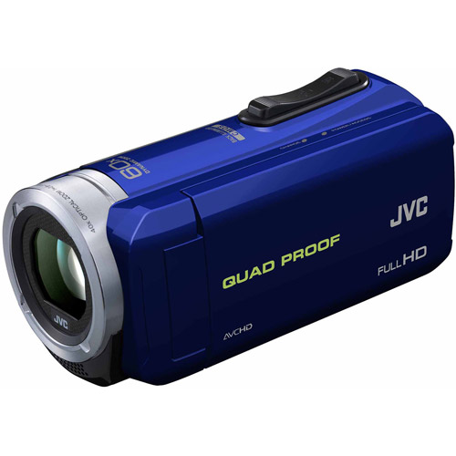 JVC Everio GZ-R10 Quad Proof Full HD Digital Video Camera Camcorder (Blue)