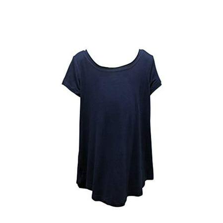 ERGE Tween Big Girls Crew Neck Soft Tee Shirt (Navy, Large (14)) - Hot Tweens