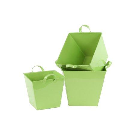 4d962cf28510f 3-Pc Square Bucket Set in Yellow Finish - Walmart.com