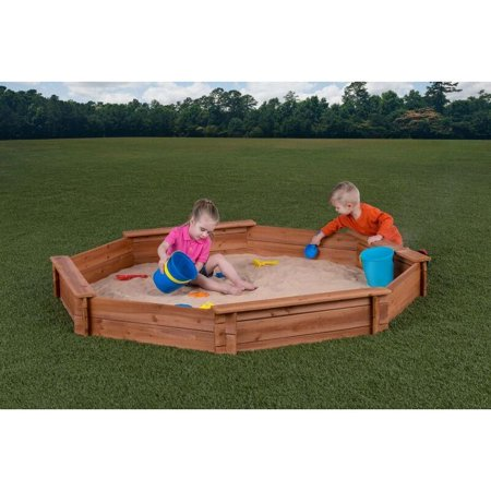 Creative Cedar Designs Octagon Wooden Sandbox 6.5