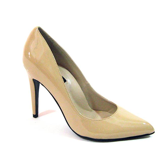 Highest Heel JESSICA-51-SA-NUDE-10 4 in. Plain Patent Pump, Nude - Size 10 - image 1 of 1