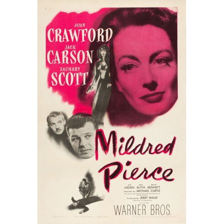 Mildred Pierce Top Right Joan Crawford Bottom From Left Zachary Scott Jack Carson 1945 Movie Poster Masterprint ()
