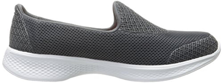 14170 Charcoal Skechers Shoe Go Walk 4 Women's Light Mesh Slip On Comfort Casual 14170CHAR