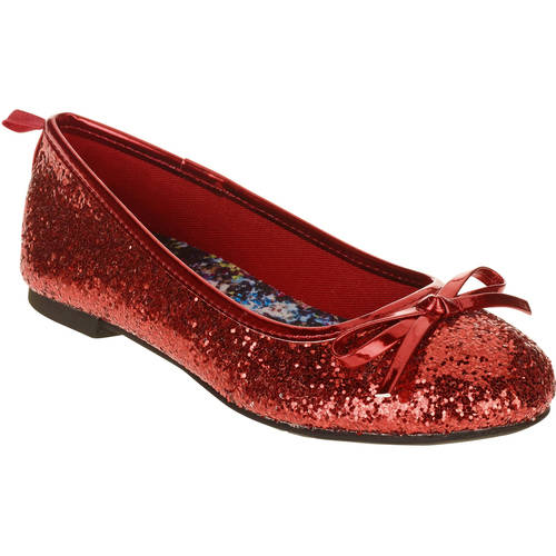 Faded Glory Girls' Casual Dazzle Ballet Flat by JU HUI FOOTWEAR CO.,LTD