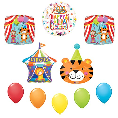 Circus Tiger Birthday Party Supplies Decoration Balloon Kit
