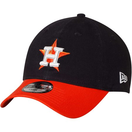 Houston Astros New Era Core Fit Replica 49FORTY Fitted Hat - Navy/Orange ()