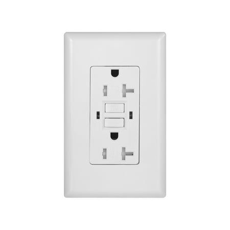 GFCI Tamper Resistant 20-Amp Duplex Outlet Self Test Receptacle with Indicator