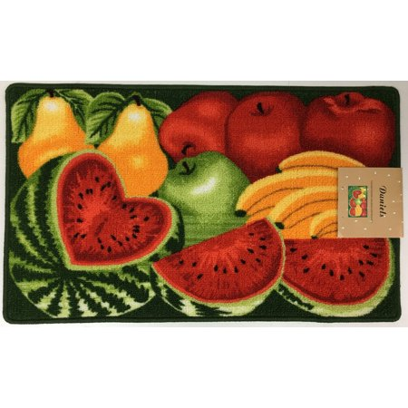 Daniels Watermelon Apples And Fruit Kitchen Rug With Non Skid Back
