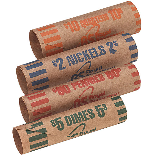Royal Sovereign Preformed Tubular Coin Wrappers, 216pk