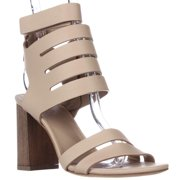 Womens VINCE Freida Ankle Strap Heeled Sandals - Nude