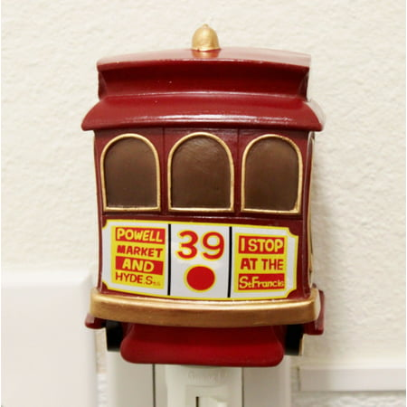 San Francisco Cable Cars Nightlight Lamp Candle Home Decor Party Souvenir Gifts](W San Francisco Halloween Party)