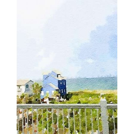 Watercolor Coastal Cottage Canvas Art - Nola James (18 x 24) ()