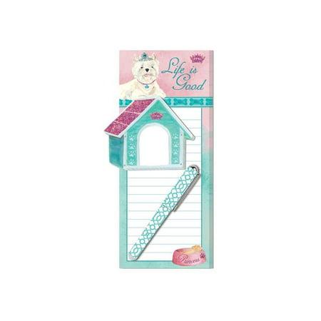 Lady Jayne Magnetic List Pad W/Pen Princess Pup