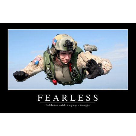 Fearless Inspirational Quote And Motivational Poster Canvas Art   Stocktrek Images  34 X 23