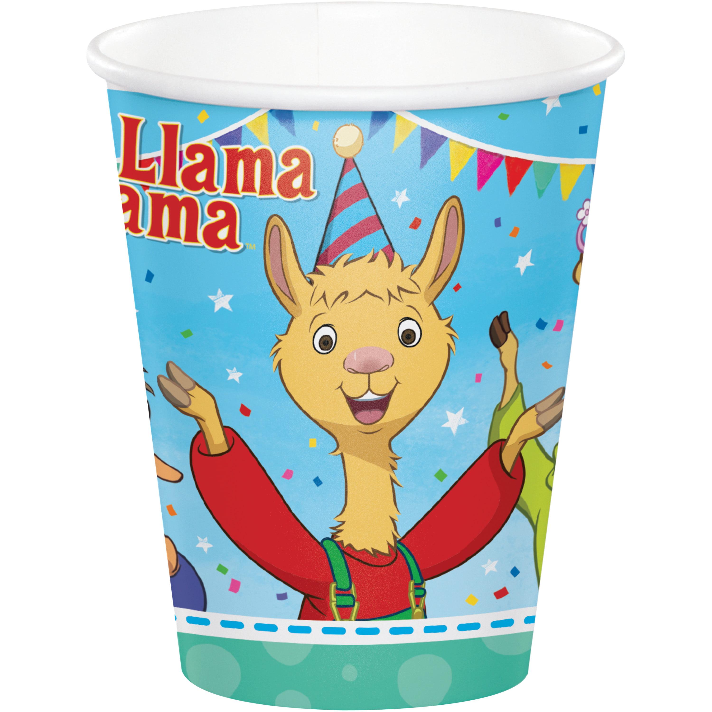 Llama Llama 9 Oz Paper Cups 24 Count For 24 Guests Walmart Com Walmart Com