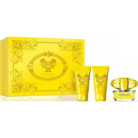 (Versace Yellow Diamond Perfume 3-Piece Gift Set for Women)