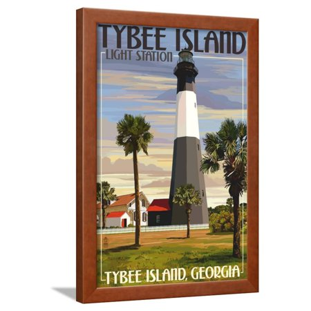 Tybee Island Light Station, Georgia Framed Print Wall Art By Lantern (Georgia Framed)