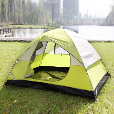 Finether 2 Person Screened Dome Tent With Rain Fly And