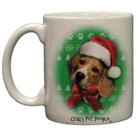 Dog Lovers Beagle Ugly Sweater Christmas Design Ceramic Coffee Mug