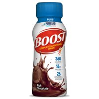 Boost Plus Nutritional Drink 12187356 8 oz Case of 24, Rich Chocolate Flavor