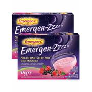 Emergen-Zzzz Vitamin C Sleep Aid With Melatonin, Berry PM, 48 Ct