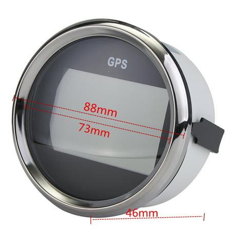 Waterproof GPS Digital Speedometer Odometer Electric Speed Gauge Car Truck  Marine 85mm