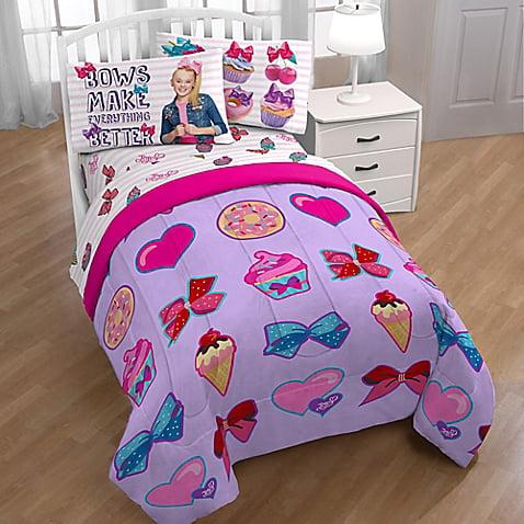 Jojo Siwa Full Comforter Sheet Set 5, Jojo Siwa Bedding Set Full