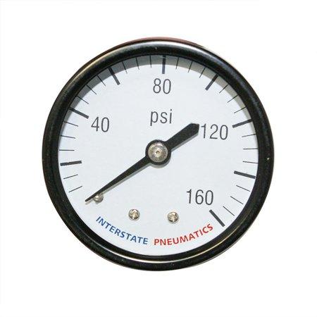 Interstate Pneumatics G2101-160 Pressure Gauge 160 PSI 1-1/2 Inch Diameter 1/...