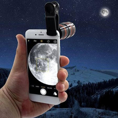 8X18 High Power Mobile Monocular Smartphone Shockproof Telescope for Bird Watching Hunting Camping - image 2 of 9