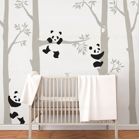 Trees with Pandas Wall Decal - Scheme C- 108