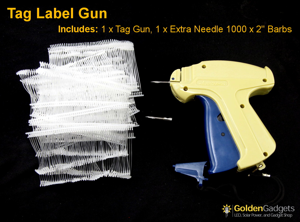 "Arrow Price Tag Gun Extra Needle 1000 3/"" WHITE Barbs Clothing Tagging Attacher"
