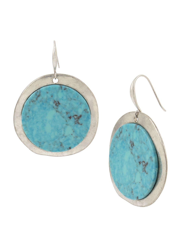 Santa Fe Crystal and Turquoise Drop Earrings