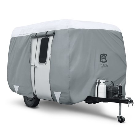 Classic Accessories OverDrive PolyPRO™ 3 Molded Fiberglass Travel Trailer Cover, Fits 13' 1