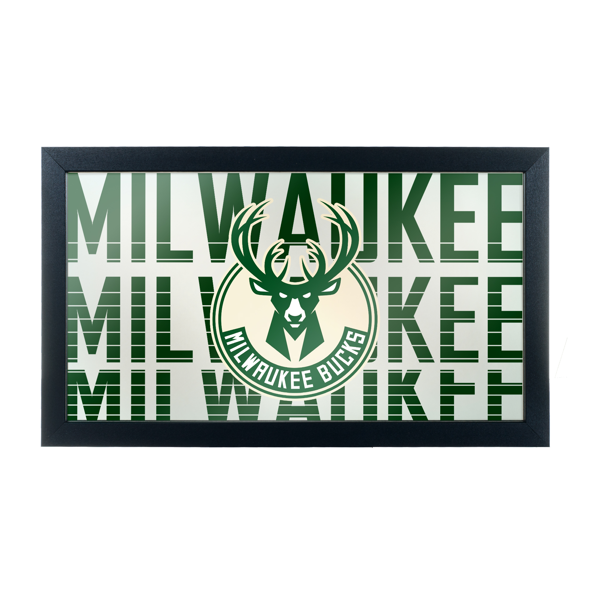 NBA Framed Logo Mirror - City - Milwaukee Bucks