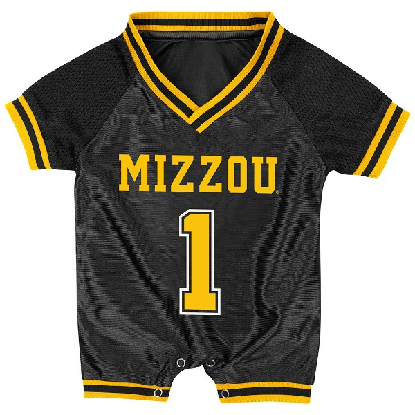 Missouri Tigers Infant Pounce Football Jersey Onesie