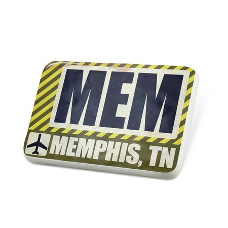Porcelein Pin Airportcode MEM Memphis, TN Lapel Badge – NEONBLOND - Costumes Memphis Tn