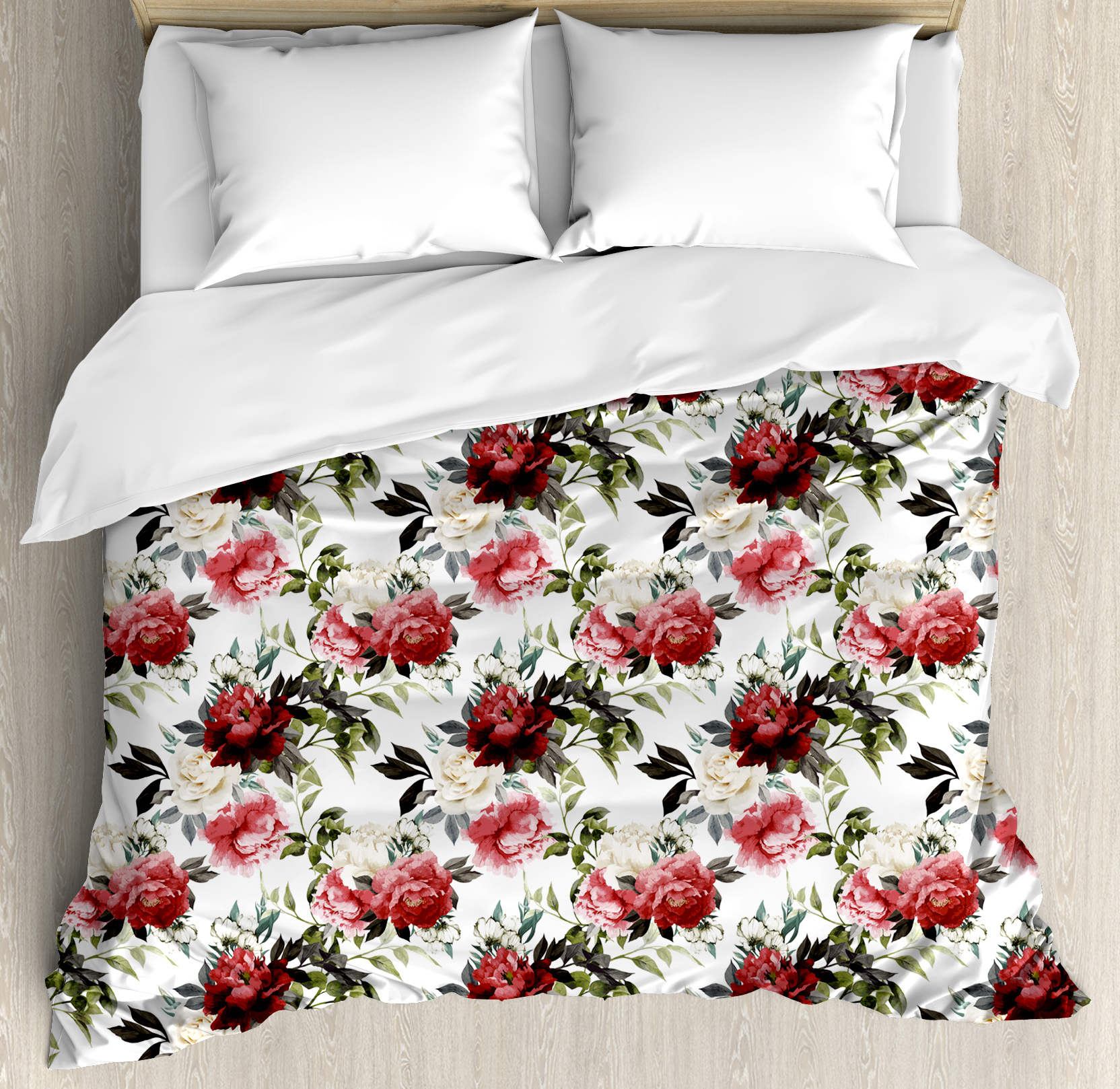 Shabby Chic Duvet Cover Set Country Style Floral Flower Roses